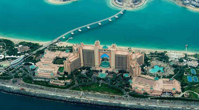 Uitzicht tijdens een stage in Dubai