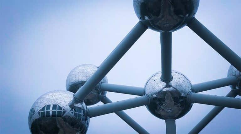 Het Atomium in Brussel, België