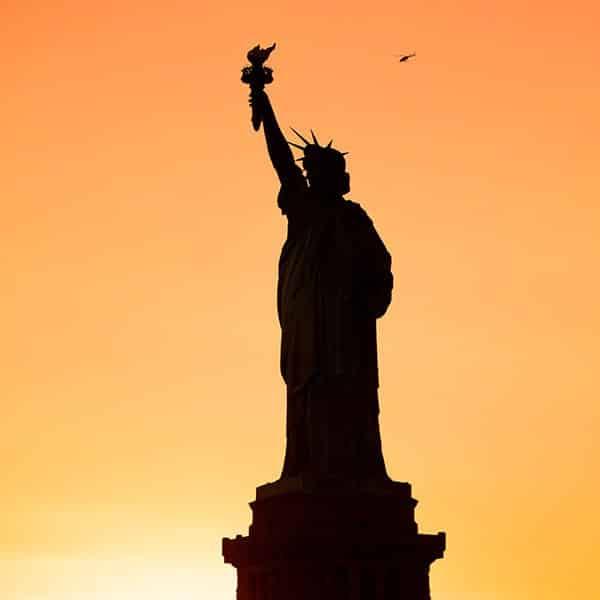 stage in noord amerika vrijheidsbeeld