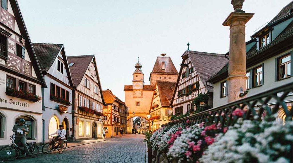Een ouderwets dorpje in Duitsland