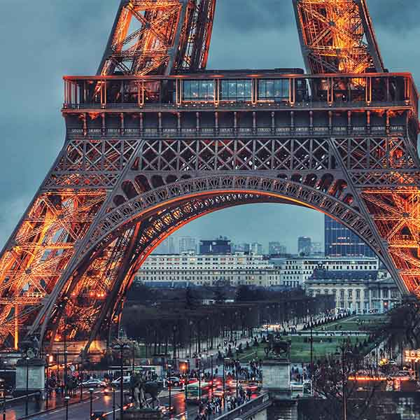 Stage lopen in Europa in de mooie stad Parijs
