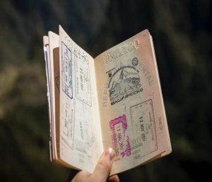 Passport with visa internship Indonesia