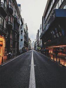 Straat in Valencia Spanje
