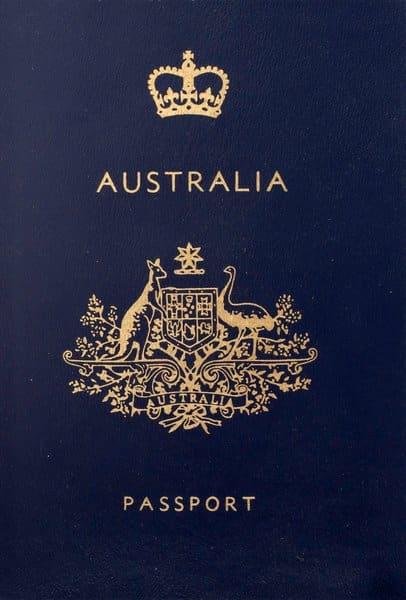 Visum Australië in een australisch paspoort