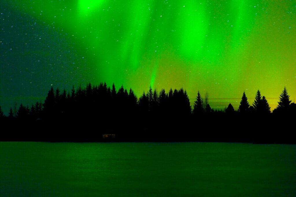 Het noorderlicht gezien tijdens een stage in Noorwegen