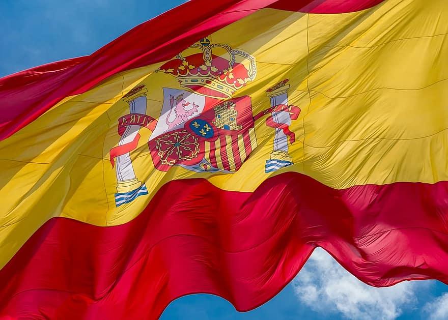 Visum stage spanje, spaanse vlag
