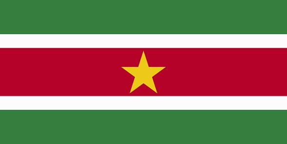 Vlag van Suriname ter illustratie van visum stage suriname