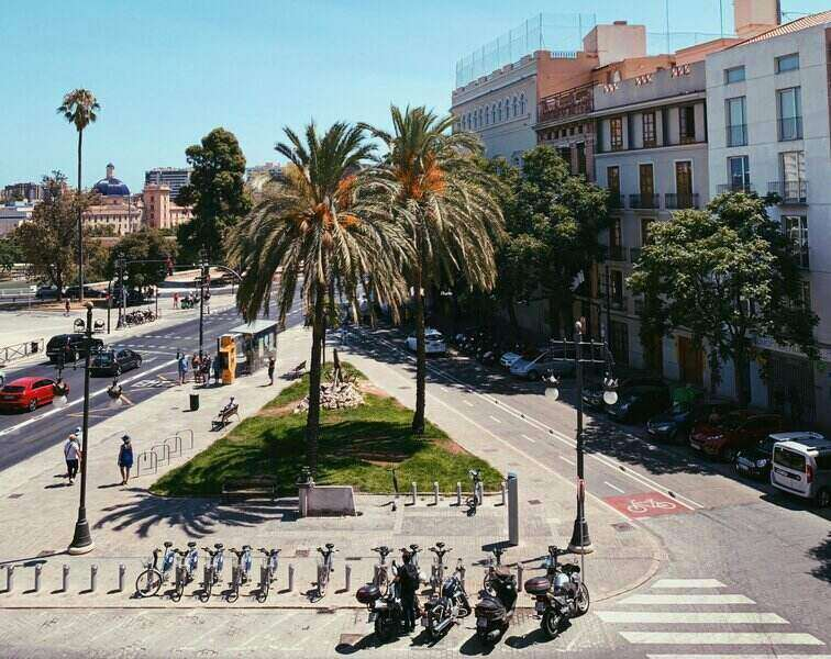 straat in valencia