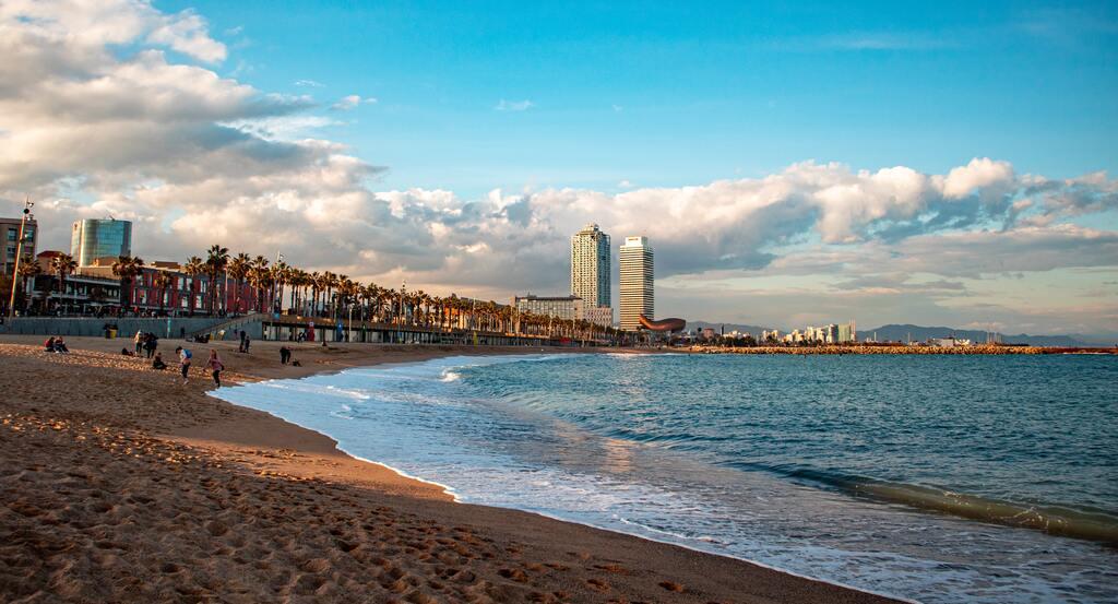 stranden in barcelona
