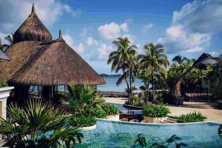 Mauritius hotel met palmbomen Stage Mauritius