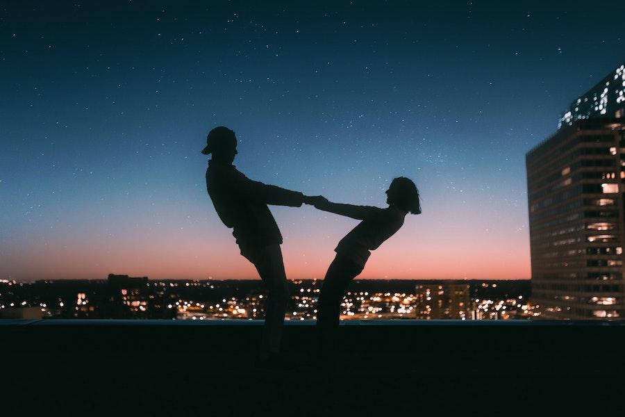 Romantisch op het dak met sterren