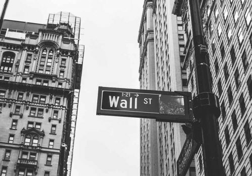 Wall Street sign in Amerika